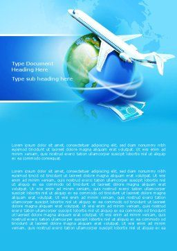 Airlines Word Template, Cover Page, 07964, Careers/Industry — PoweredTemplate.com