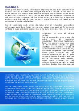 Airlines Word Template, First Inner Page, 07964, Careers/Industry — PoweredTemplate.com