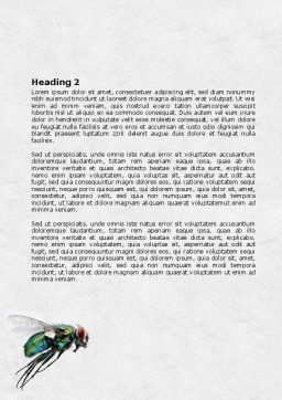 Fly Word Template, Second Inner Page, 07968, General — PoweredTemplate.com