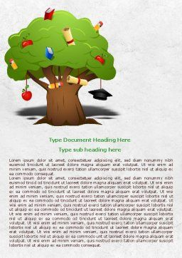 Education Tree Word Template Cover Page