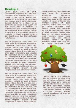 Education Tree Word Template First Inner Page