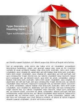 House Project Word Template, Cover Page, 07971, Construction — PoweredTemplate.com