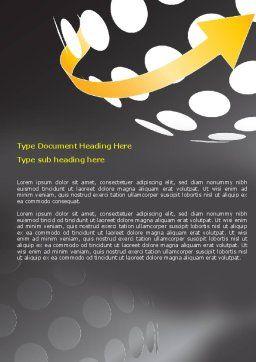 Arrow Around Sphere Word Template, Cover Page, 07972, Business — PoweredTemplate.com