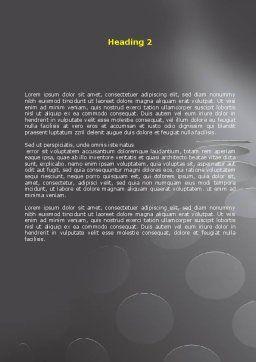 Arrow Around Sphere Word Template, Second Inner Page, 07972, Business — PoweredTemplate.com