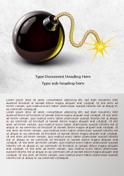 Bomb With Burning Wick Word Template, Cover Page, 07973, Consulting — PoweredTemplate.com