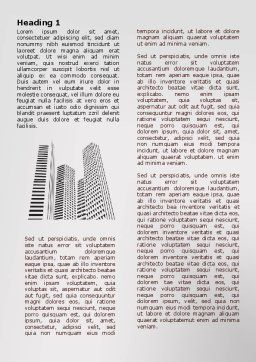 Gray Skyscrapers Word Template, First Inner Page, 07974, Construction — PoweredTemplate.com