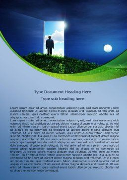 Between Nigh And Day Word Template, Cover Page, 07976, Consulting — PoweredTemplate.com