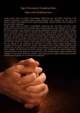 Clenched Hands Word Template, Cover Page, 07977, Religious/Spiritual — PoweredTemplate.com