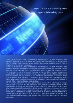 News Media Word Template, Cover Page, 07978, Careers/Industry — PoweredTemplate.com