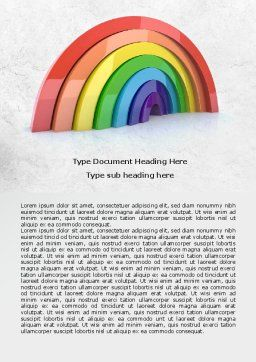 Rainbow In 3D Word Template, Cover Page, 07979, Education & Training — PoweredTemplate.com