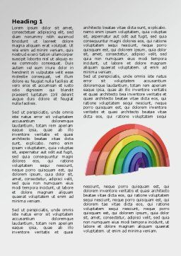 Rainbow In 3D Word Template, First Inner Page, 07979, Education & Training — PoweredTemplate.com