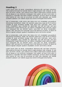 Rainbow In 3D Word Template, Second Inner Page, 07979, Education & Training — PoweredTemplate.com
