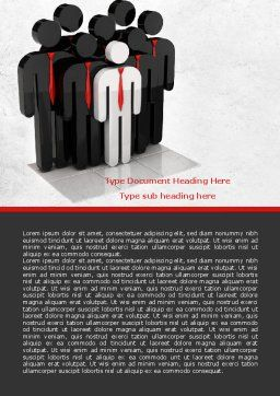 Business Team Leader Word Template, Cover Page, 07983, Education & Training — PoweredTemplate.com