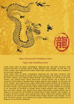 Chinese Dragon Word Template, Cover Page, 07985, Holiday/Special Occasion — PoweredTemplate.com