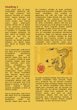 Chinese Dragon Word Template, First Inner Page, 07985, Holiday/Special Occasion — PoweredTemplate.com