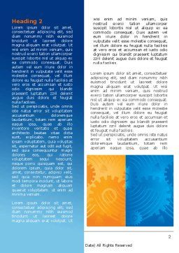 Geared Yellow Blue Word Template, First Inner Page, 07986, Business — PoweredTemplate.com