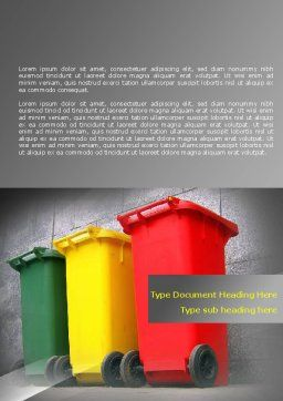 Recycling Business Word Template Cover Page
