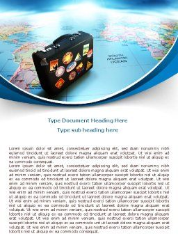 International Tourism Word Template, Cover Page, 07989, Careers/Industry — PoweredTemplate.com