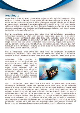 International Tourism Word Template First Inner Page