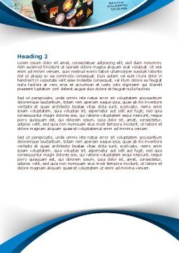 International Tourism Word Template, Second Inner Page, 07989, Careers/Industry — PoweredTemplate.com