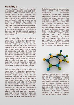Molecule Word Template, First Inner Page, 07990, Technology, Science & Computers — PoweredTemplate.com