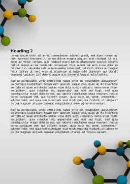 Molecule Word Template, Second Inner Page, 07990, Technology, Science & Computers — PoweredTemplate.com