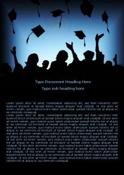 Alumnuss Word Template, Cover Page, 07994, Education & Training — PoweredTemplate.com