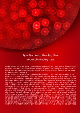 Egg Cells Word Template, Cover Page, 07996, Medical — PoweredTemplate.com