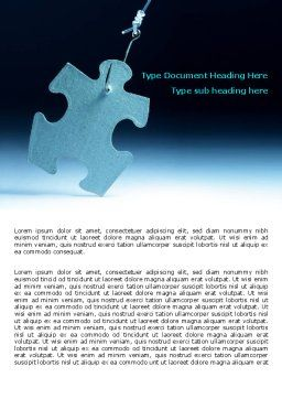 Jigsaw Piece Word Template, Cover Page, 07997, Consulting — PoweredTemplate.com