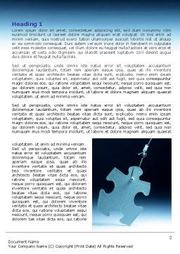 Jigsaw Piece Word Template, First Inner Page, 07997, Consulting — PoweredTemplate.com