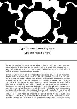 Gear Wheels Mechanism Word Template, Cover Page, 08001, Consulting — PoweredTemplate.com