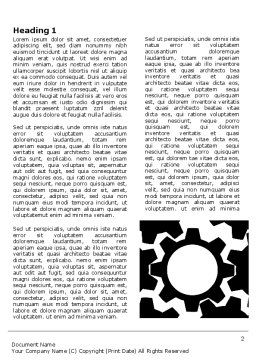 Gear Wheels Mechanism Word Template, First Inner Page, 08001, Consulting — PoweredTemplate.com