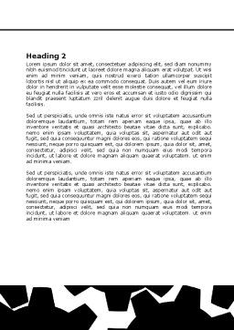 Gear Wheels Mechanism Word Template, Second Inner Page, 08001, Consulting — PoweredTemplate.com
