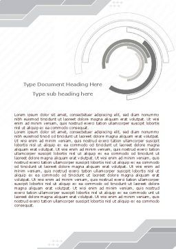 Neutral Gray Word Template, Cover Page, 08003, Business — PoweredTemplate.com