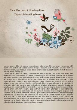 Bird Theme Word Template, Cover Page, 08004, Nature & Environment — PoweredTemplate.com