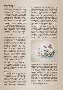Bird Theme Word Template, First Inner Page, 08004, Nature & Environment — PoweredTemplate.com