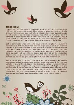 Bird Theme Word Template, Second Inner Page, 08004, Nature & Environment — PoweredTemplate.com