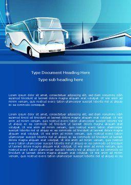 Coach Bus Word Template, Cover Page, 08005, Cars/Transportation — PoweredTemplate.com