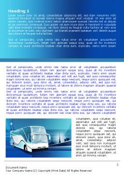 Coach Bus Word Template, First Inner Page, 08005, Cars/Transportation — PoweredTemplate.com