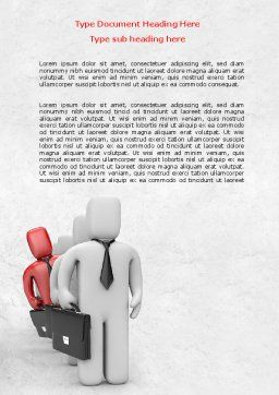 Business Queue Word Template, Cover Page, 08006, Consulting — PoweredTemplate.com