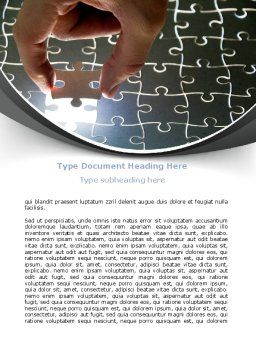 Jigsaw Fit Word Template, Cover Page, 08008, Consulting — PoweredTemplate.com