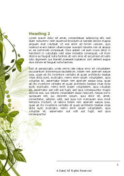 Green Butterfly Theme Word Template, Second Inner Page, 08009, Nature & Environment — PoweredTemplate.com