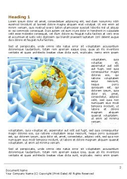 World Labyrinth Word Template, First Inner Page, 08011, Global — PoweredTemplate.com