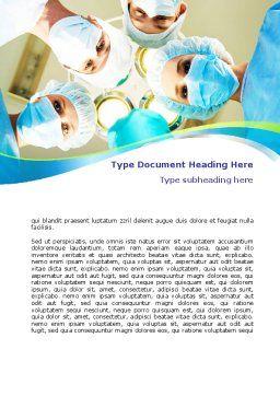 Surgical Brigade Word Template, Cover Page, 08012, Medical — PoweredTemplate.com