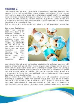 Surgical Brigade Word Template, First Inner Page, 08012, Medical — PoweredTemplate.com