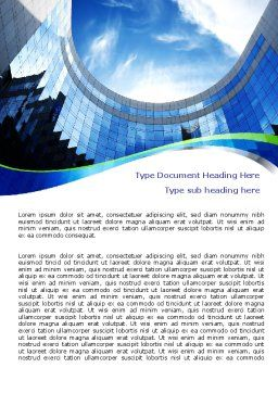 Building Skyline Word Template, Cover Page, 08013, Construction — PoweredTemplate.com