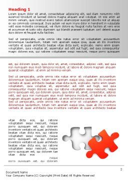 Last Red Puzzle Word Template, First Inner Page, 08014, Consulting — PoweredTemplate.com