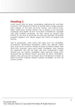 Last Red Puzzle Word Template, Second Inner Page, 08014, Consulting — PoweredTemplate.com