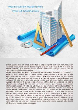 Plan Of Shopping Mall Word Template, Cover Page, 08017, Construction — PoweredTemplate.com