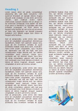 Plan Of Shopping Mall Word Template, First Inner Page, 08017, Construction — PoweredTemplate.com